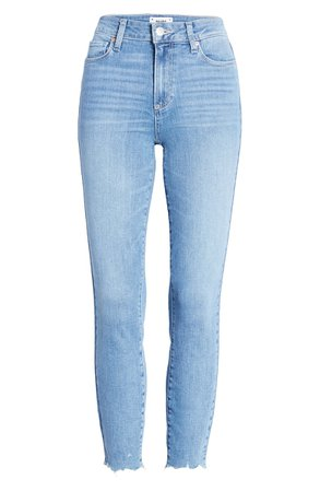 PAIGE Hoxton High Waist Crop Skinny Jeans (Jukebox) | Nordstrom