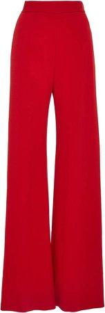 Pebble Crepe Wide-Leg Pants Size: 4