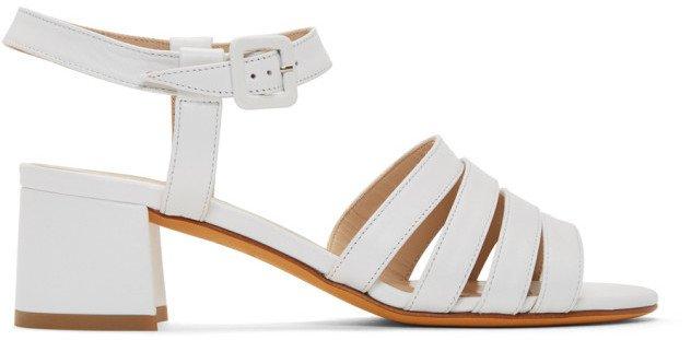 White Palma Low Sandals