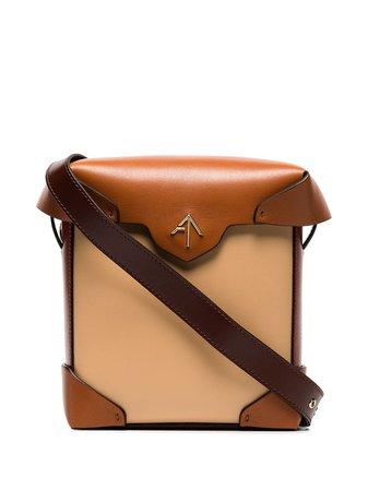 Manu Atelier Mini Pristine Crossbody Bag 2017889 Brown   Farfetch