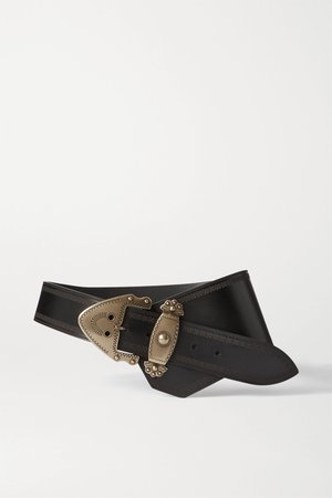 Black Liko asymmetric leather waist belt | Isabel Marant | NET-A-PORTER
