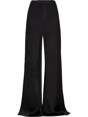 Shop black FENTY XLong wide satin trousers with Express Delivery - Farfetch