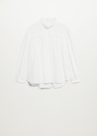 Openwork cotton blouse - Women | Mango USA