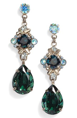 Sorrelli Shielded Crystal Drop Earrings | Nordstrom
