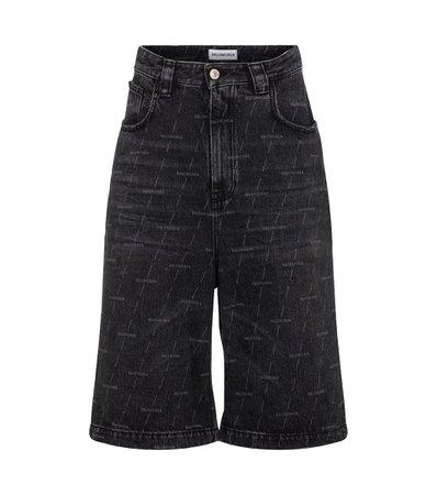 Balenciaga - Jupe-culotte en jean à logo   Mytheresa