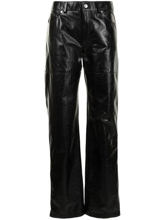 Peter Do straight-leg Leather Trousers - Farfetch