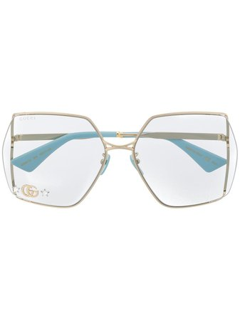 Gucci Eyewear Double G oversized-frame Sunglasses - Farfetch