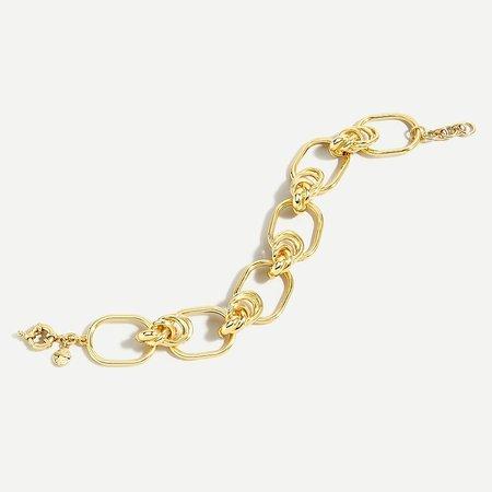 J.Crew: Knot Link Bracelet For Women gold