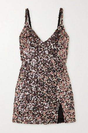 Net Sustain Jimmy Sequined Tulle Mini Dress - Metallic