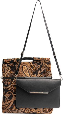 The Messenger Handbag with Removable Clutch