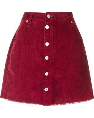 maroon cord. skirt