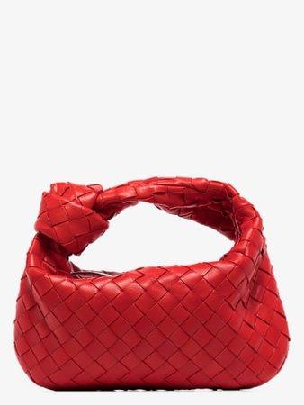 Bottega Veneta Red Mini Jodie Intrecciato bag | Browns