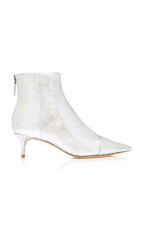 Kittie Metallic Leather Ankle Boots by Alexandre Birman | Moda Operandi