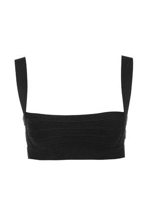 'Euphoria' Black Bandage Cage Cropped Top - Mistress Rocks