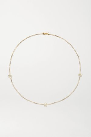 Gold 18-karat gold diamond necklace | Jennifer Meyer | NET-A-PORTER