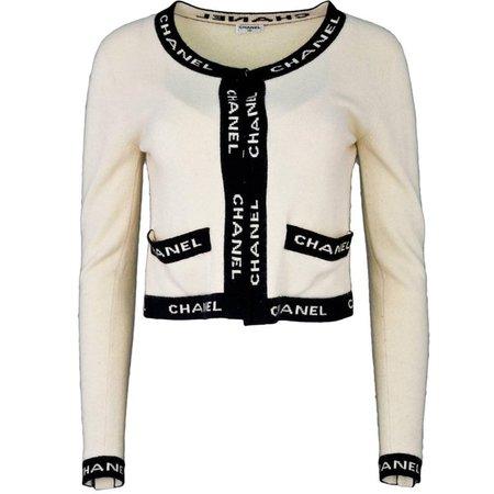 Chanel Beige and Black CHANEL Sweater