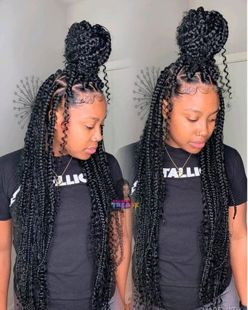 knotless braids with curls - Google Search