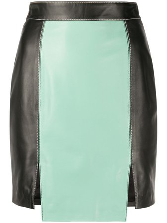Kirin Fitted stitched-panel Skirt - Farfetch