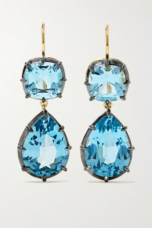Gold Collection silver-topped 18-karat gold topaz earrings | Fred Leighton | NET-A-PORTER