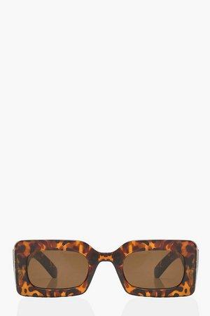 Chunky Rectangle Sunglasses | boohoo
