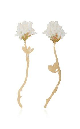 White Clover Drop Earrings by Christopher Thompson Royds | Moda Operandi
