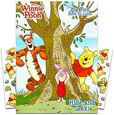 Amazon.com: Winnie the Pooh Coloring Book with Stickers ~ 96-page Coloring Book with Winnie the Pooh Stickers Pack: Gateway