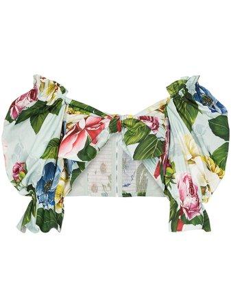 Dolce & Gabbana Blusa Tipo Bandeau Con Motivo Floral - Farfetch