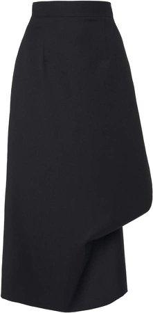 Slash Wool Pencil Skirt