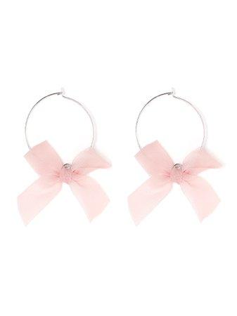 Metal Hoop Ribbon Earrings (Accessories / Pierce) | Mail Order of BUBBLES (Bubbles) | Fashion Walker