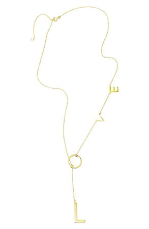 ADORNIA Love Lariat Necklace | Nordstrom