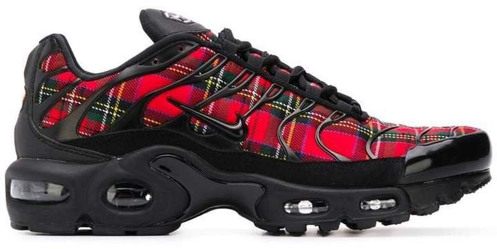 Plus tartan sneakers