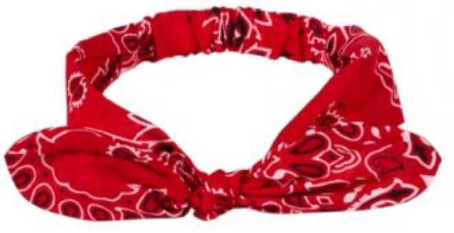 Red Bandana Headband