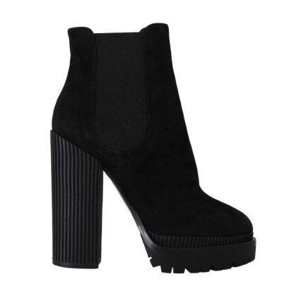 Black Suede Heels Chelsea Boots – Brand Agent