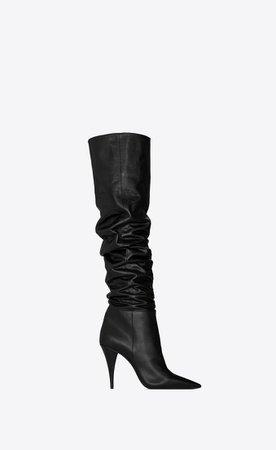 Saint Laurent KIKI Boots In Shiny Leather  | YSL.com