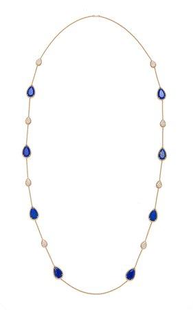 Lapis Lazuli Serpent Boheme Long Necklace by Boucheron | Moda Operandi