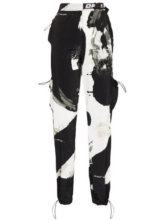 Off-White | printed cargo track trousers