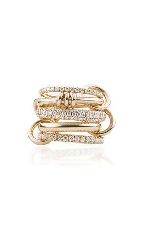 Venus 18k Yellow Gold Diamond Ring By Spinelli Kilcollin | Moda Operandi