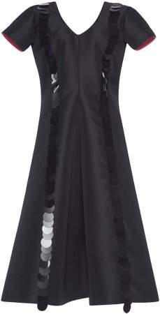 Short-Sleeve Sequin Dress