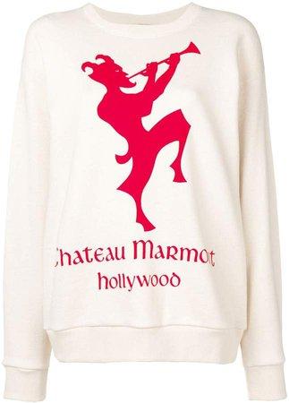 Sweatshirt with Chateau Marmont print