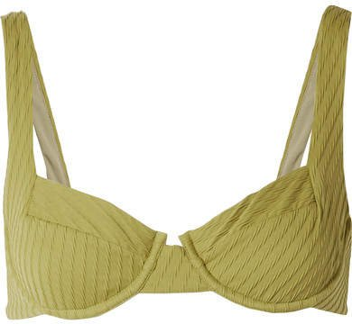 Fella - Casanova Textured Underwired Bikini Top - Sage green