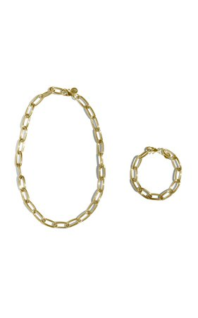 Gold-Tone Necklace And Bracelet Set by Young Frankk | Moda Operandi