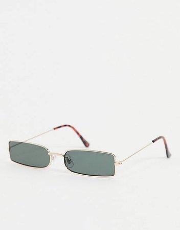 Madein. slim line square sunglasses | ASOS