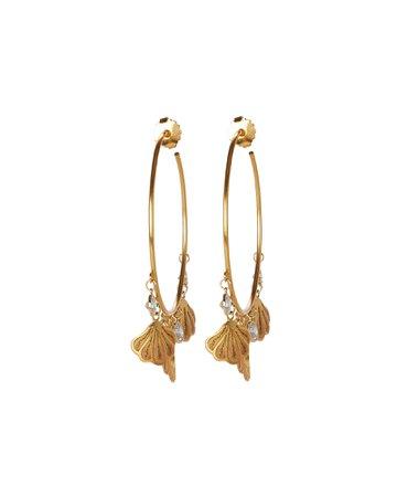 Mallarino | Shell Hoop Earrings | INTERMIX®