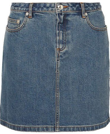 Denim Mini Skirt - Mid denim