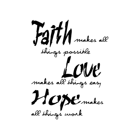 Wood Mounted Stamp: Faith, Hope, Love K2QQ0801F