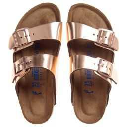 Birkenstock - Copper Leather ARIZONA Sandals | Childrensalon