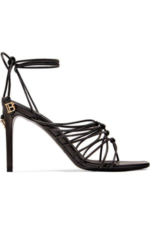 Balmain | Mikki knotted leather sandals | NET-A-PORTER.COM