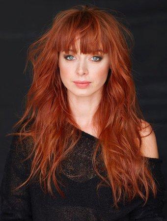 Ginger hair with fringe