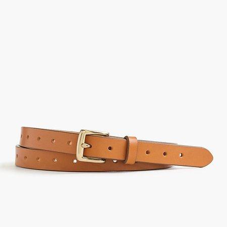 Women's Perforated Italian Leather Belt - Women's Belts | J.Crew
