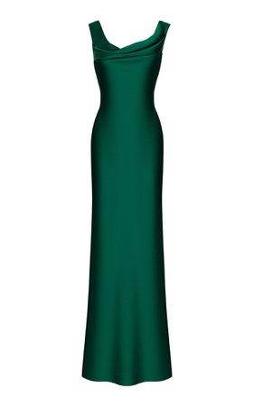 Draped Satin Gown By Rasario | Moda Operandi